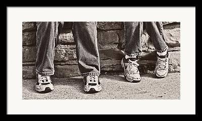 Tennis Shoe Framed Prints