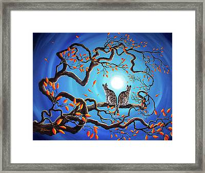 Brothers Under A Blue Moon Framed Print