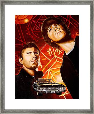 Brothers Winchester Framed Print by Al  Molina