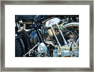 Brough Superior Jap Engine Framed Print by Tim Gainey