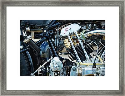 Brough Superior Jap Engine Framed Print