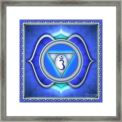 Brow Chakra - Series 2 Framed Print by Dirk Czarnota