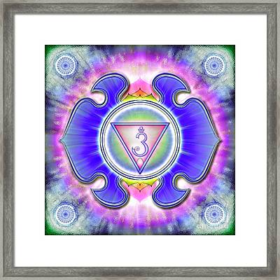 Brow Chakra - Series 3 Framed Print by Dirk Czarnota