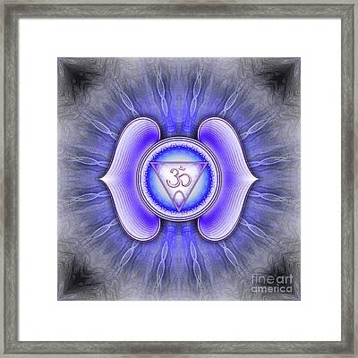 Brow Chakra - Series 4 Framed Print by Dirk Czarnota