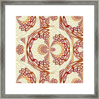 Brown And Tan Pattern Framed Print