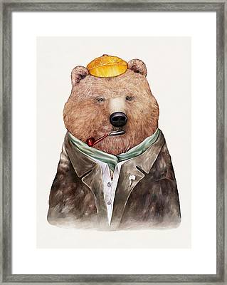 Brown Bear Framed Print by Animal Crew