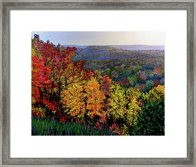 Brown County Autumn Framed Print by Stan Hamilton