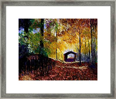 Brown County Covered Bridge Framed Print by Stan Hamilton