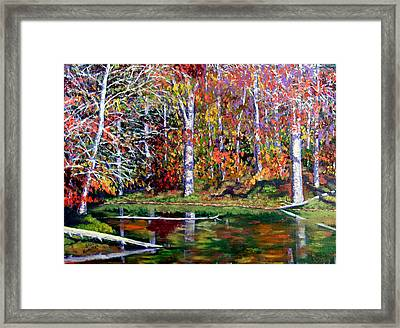 Brown County In Fall Framed Print by Stan Hamilton