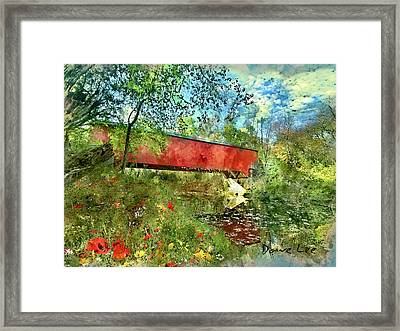 Brown County, Indiana - Covered Bridge Framed Print