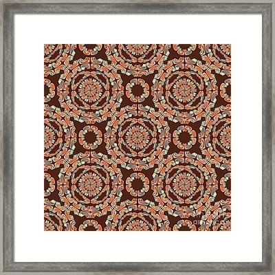 Brown Decorative Pattern Framed Print