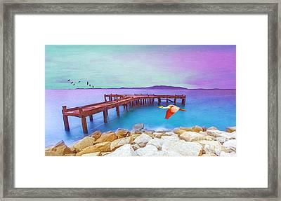 Brown Dock Framed Print