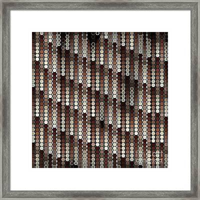 Brown Dot Framed Print