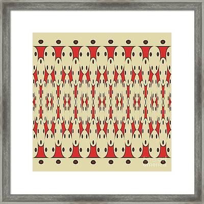 Brown Dots Framed Print