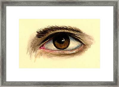 Brown Eye Framed Print by Michael Vigliotti
