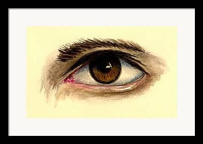 Brown Eyes Framed Prints