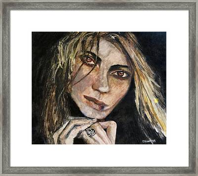 Brown Eyed Girl Framed Print by Penfield Hondros