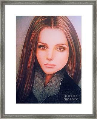 Brown Eyed Girl Framed Print by Veronica Gabriel