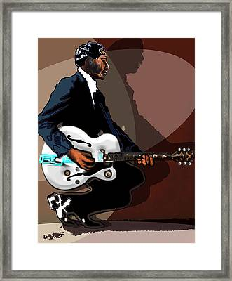 Brown Eyed Handsome Man-chuck Berry Framed Print