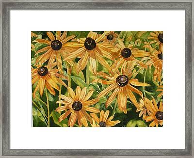 Brown Eyes Framed Print by Helen Shideler
