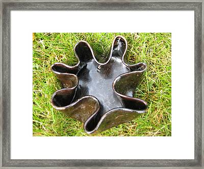 Brown Free-form With Fluted Rim Vessel Framed Print