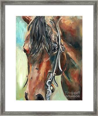 Brown Horse Head Framed Print