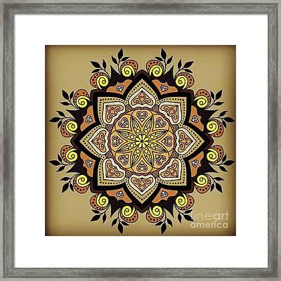 Brown Opal Framed Print
