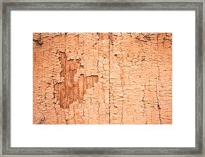 Framed Print featuring the photograph Brown Paint Texture by John Williams