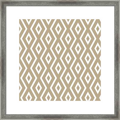 Brown Pattern Framed Print by Christina Rollo