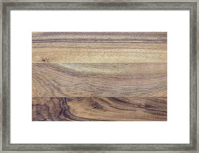 Brown Rubber Wooden Tray Handmade In Asia Framed Print