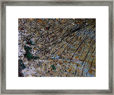 Brown Splatter Framed Print
