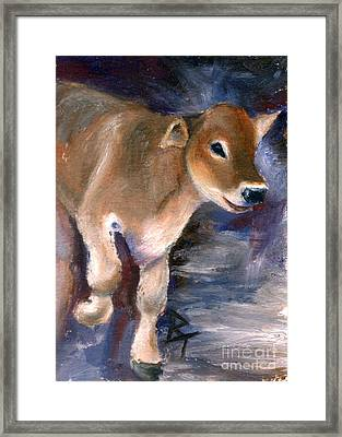 Brown Swiss Calf Aceo Framed Print