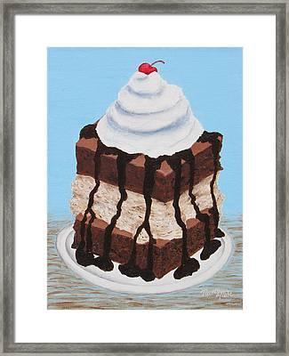 Brownie Ice Cream Sandwich Framed Print
