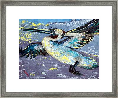 Brownie Into The Sunset Framed Print by Suzanne McKee