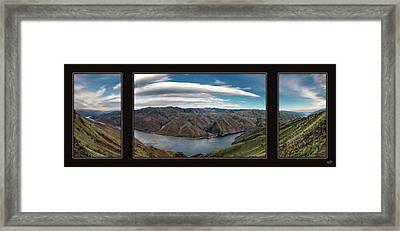Brownlee Triptych Framed Print by Leland D Howard