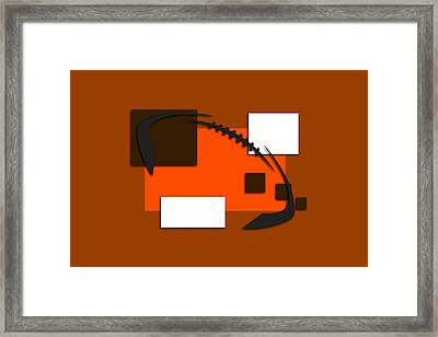 Browns Abstract Shirt Framed Print