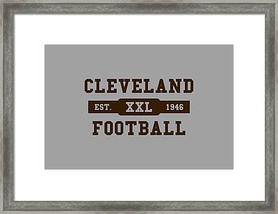 Browns Retro Shirt Framed Print
