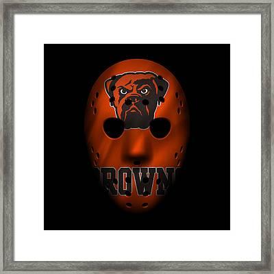 Browns War Mask 3 Framed Print