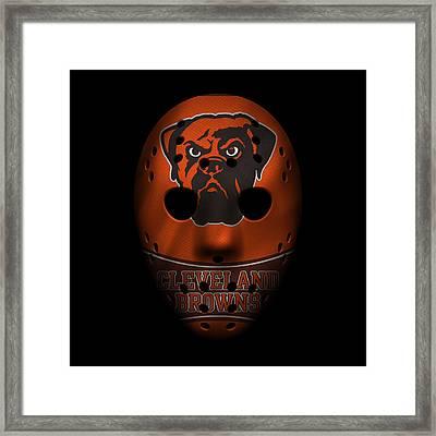 Browns War Mask 4 Framed Print by Joe Hamilton