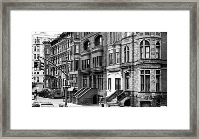Brownstone Framed Print by Darren Martin
