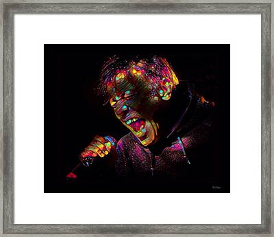 Bruce Dickinson Color Splash Framed Print