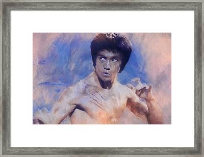 Bruce Lee Art Framed Print