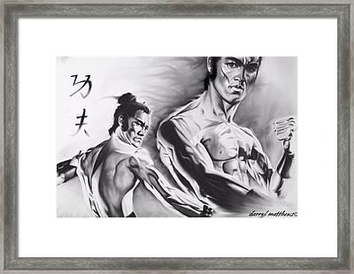 Bruce Lee Framed Print by Darryl Matthews