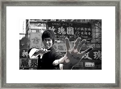 Bruce Lee Founder Of Jeet Kune Do Framed Print by Daniel Hagerman