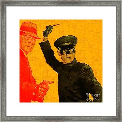 Bruce Lee Kato And The Green Hornet - Square Framed Print by Wingsdomain Art and Photography