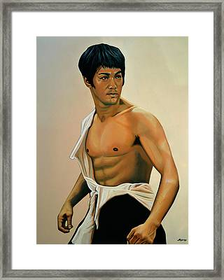 Bruce Lee Painting Framed Print