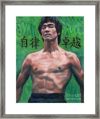 Bruce Lee Portrait Framed Print by Bill Pruitt