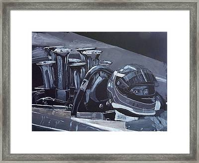Framed Print featuring the painting Bruce Mclaren Canam by Richard Le Page