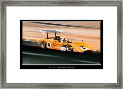 Bruce Mclaren M8b Framed Print by Peter Chilelli