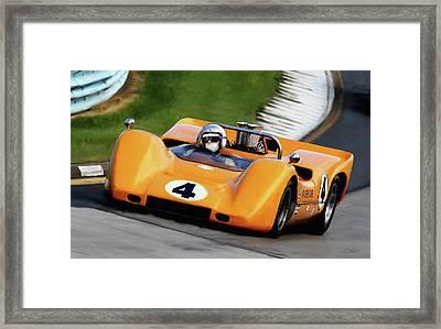 Bruce Mclaren Framed Print by Peter Chilelli